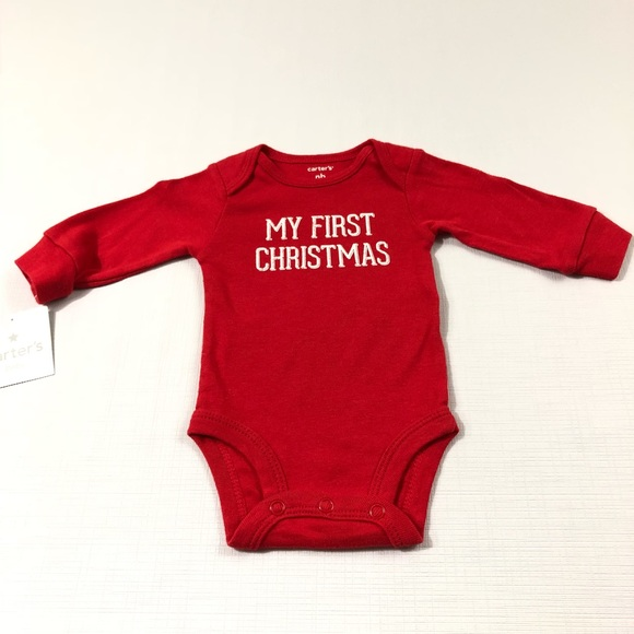 b034cc622 Carter's One Pieces | Carters Red My 1st Christmas Long Sleeve ...